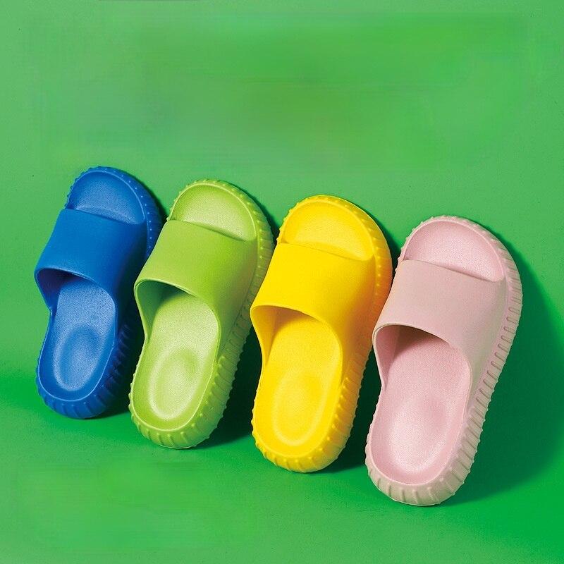 Детские шлепанцы для мальчиков и девочек, домашняя обувь, летние шлепанцы для малышей, комнатные тапочки, пляжные тапочки для плавания