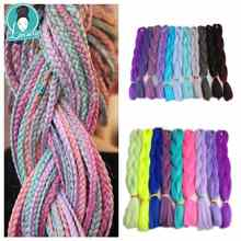 Luxury 1pack Navy Neon Olive Green Lavender Lilac Vintage Pink  Synthetic Jumbo Braiding Hair  24