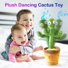 Plush Dancing Cactus Stuffed Fidget Toys Singing And Dancing Cactus Shake With Music Dancing Plant T