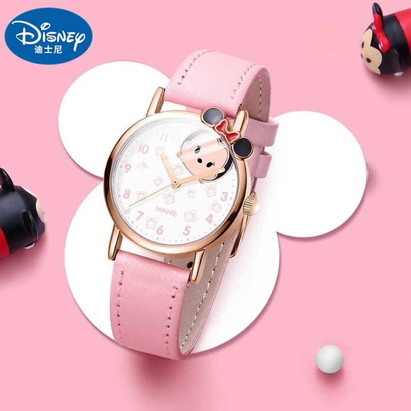 Disney Original cartoon Micky Minnie Dumbo Ariel Lotso Marie Cat Kids Girls Women Quartz Casual Wrist watch Children Waterproof