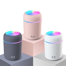 300ml Air Humidifier with Colorful Lamp Ultrasonic Home Car Aroma Essential Oil Diffuser USB Cool Mist Aromatherapy Humidifier