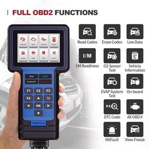 Image 2 - Thinkcar Thinkscan 601 OBD2 читатель кода блока управления двигателем/АБС пластик/ПП автомобильное масло сканера/Система контроля давления в шинах/стоп сигнал/SAS сброс диагностический инструмент