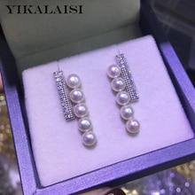 YIKALAISI 925 Sterling Silver Jewelry Pearl Earrings 2020 Fine Natural Pearl jewelry 4-5mm Earrings For Women wholesale