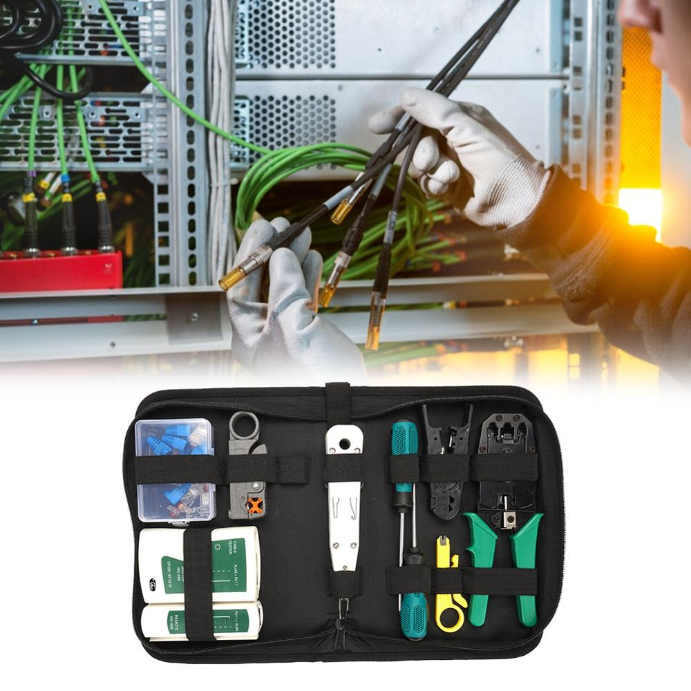 hot pro skit pk 2028 household repair hand tool set electrician pliers driver bit set wrench tool kit tool box 14pcs Portable Household Repair Hand Tool Combination Set Network Cable Combination Network Installation Kit Cable Pliers Set