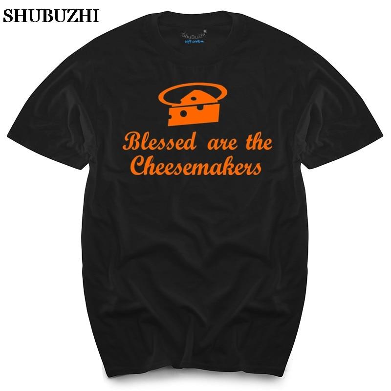 Blessed Are The Cheese Makers Monty Python inspirado para hombre Camiseta para hombre Camisetas superiores de algodón camiseta para hombre