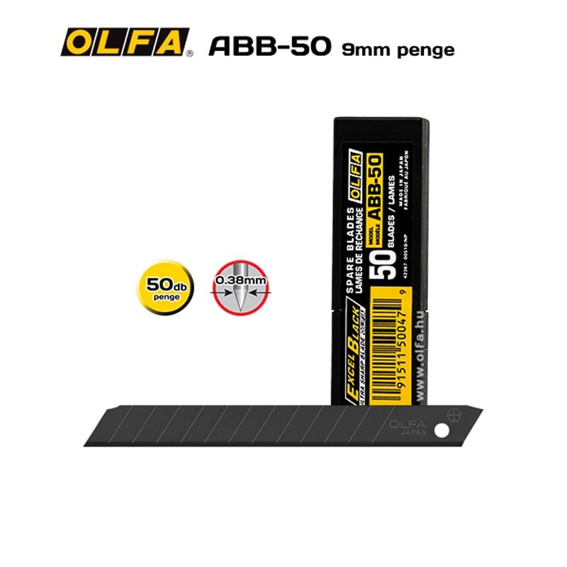Olfa ABB-50 9 мм UltraSharp, Черное лезвие, 50 шт. в упаковке, виниловые автомобильные наклейки, наклейки