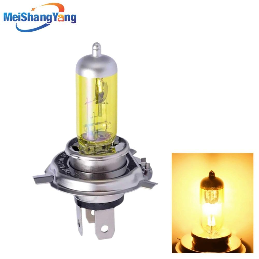 Противотумансветильник фары, желтая галогенная лампа высокой мощности H4 55 Вт 12 в 100 Вт для автомобильного источника света, парковочная голо...