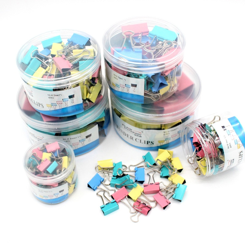 30 Pcs Metal paper clip 15mm color paper clip, used for books stationery school office supplies high quality
