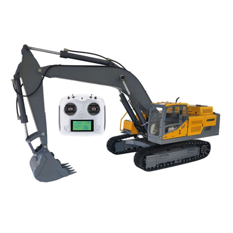 جديد سبيكة 1:12 حفارة هيدروليكية نموذج RC آلات البناء سيارة لعبة مجسمة
