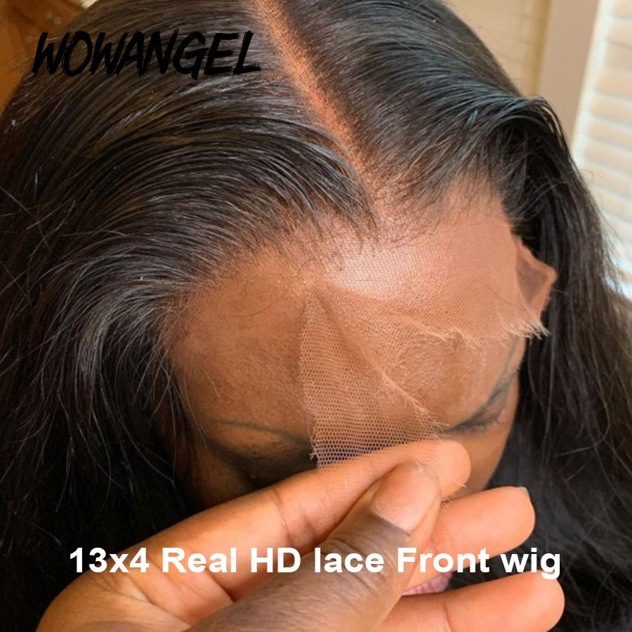 34 inches 13X4 HD Full Lace Frontal Wig Real Invisible HD Transparent Lace Frontal Human Hair Wigs 5x5 HD Lace Wigs Pre Plucked