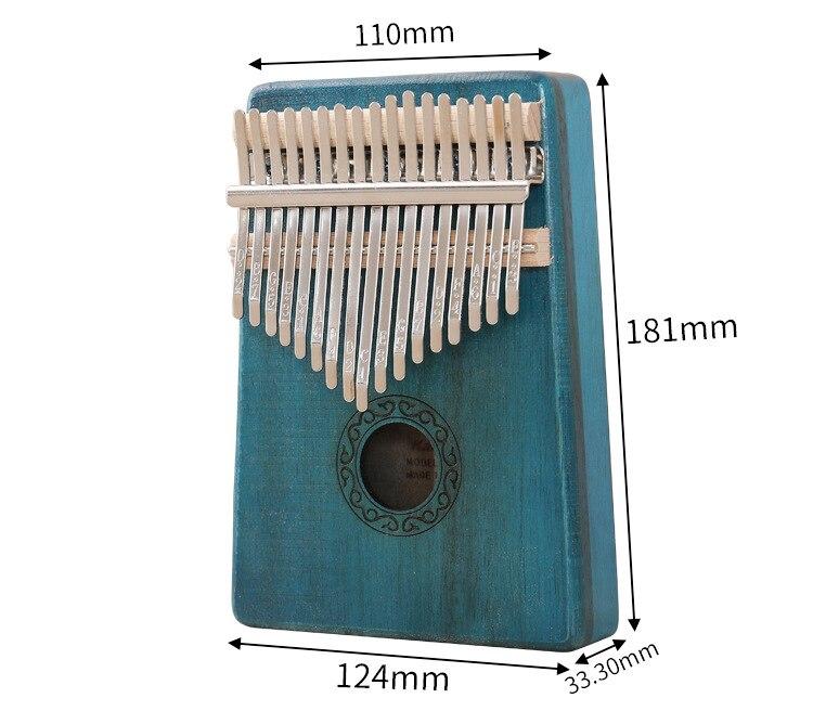 Thumb Piano Kalimba 17 key Wooden Finger Piano Kalimba Thumb Piano Portable Instrument Gift for Kids and Beginners enlarge