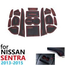 Anti-Slip Gummi Tasse Kissen Tür Nut Matte für Nissan Sentra B17 Nissan Pulsar Sylphy 2013 ~ 2015 Zubehör matte für telefon 2014