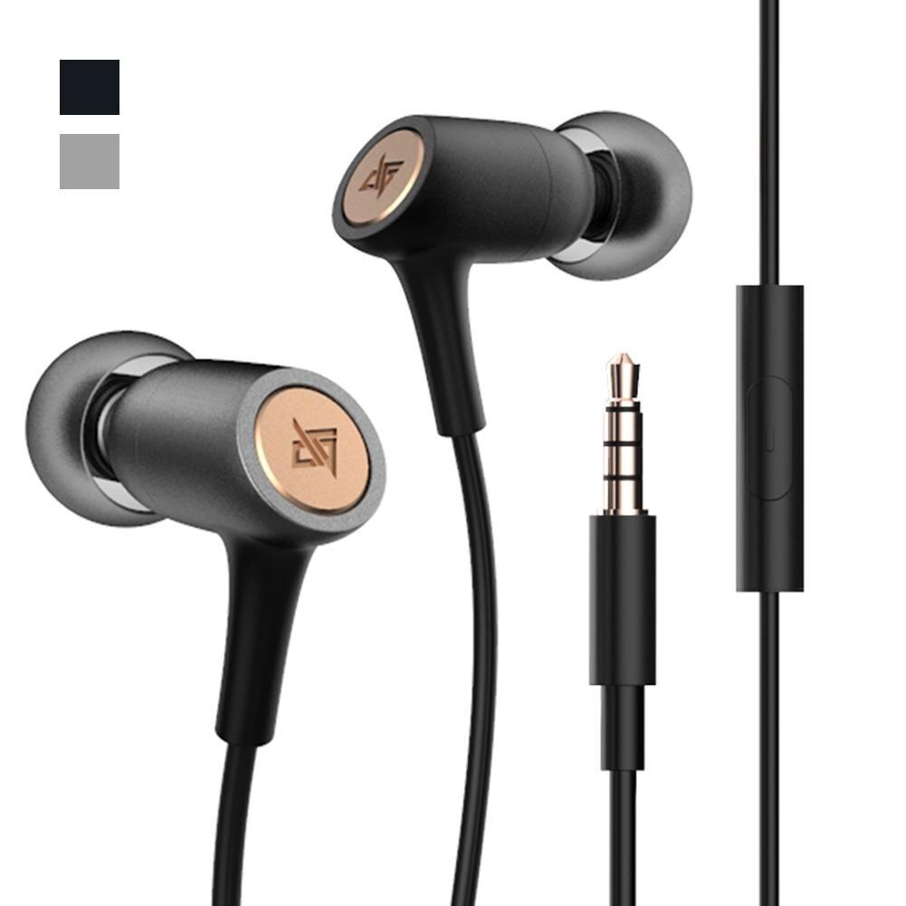 AUGLAMOUR T200 auriculares metálicos universales ligeros HiFi de moda, auriculares con soporte para llamadas y música, auriculares con micrófono para iPhone y Android