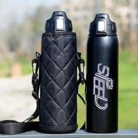 1000ml750ml double stainless steel sport thermos mug with bag coffee tea vacuum flask travel mug climbing thermal water bottle