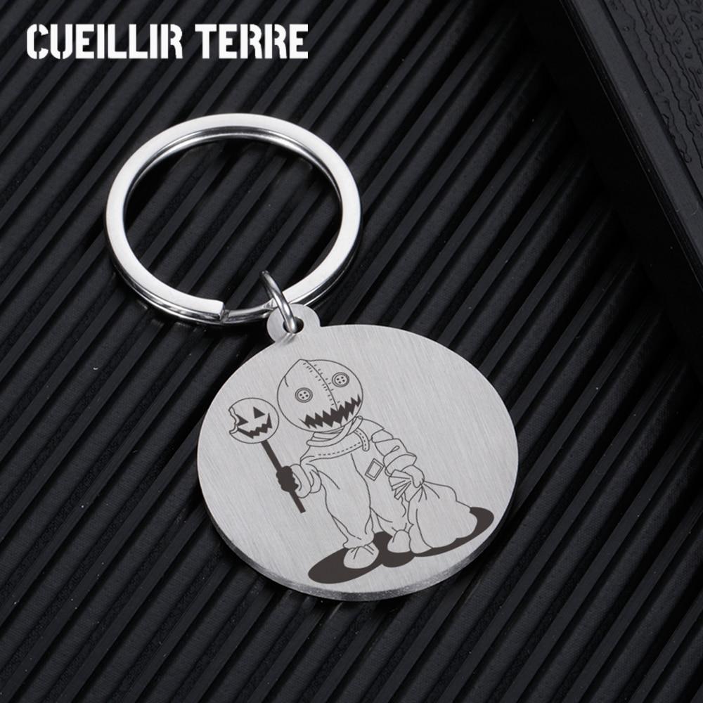 Halloween Custom Keychain Bat Muppet Monster Pumpkin Key Ring For Bags Creative Fashion Cool Car Acc