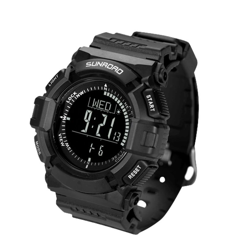 Reloj deportivo digital para hombre, cronómetro con brújula, altímetro, calorías, cronómetro, resistente...