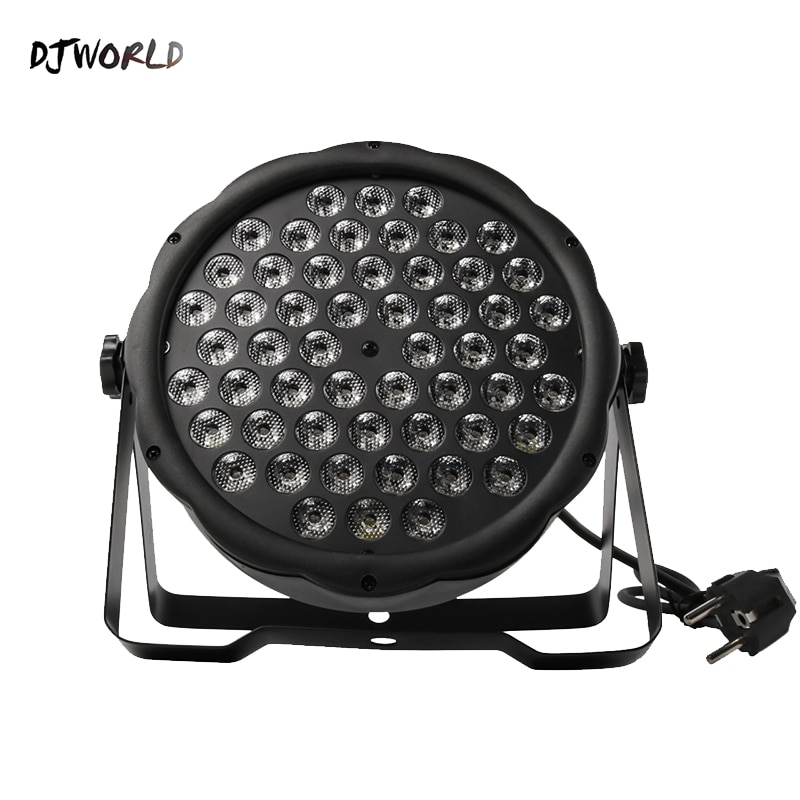 Djworld LED Flat Par 54x3W RGB Color Lighting Strobe DMX 512 Stage Effect Light For Dj Disco Party Wedding Bar Stage Party TV disco dj light co2 gun pistola co2 rgb gun co2 airsoft air guns jet machine for christmas halloween wedding party stage effect