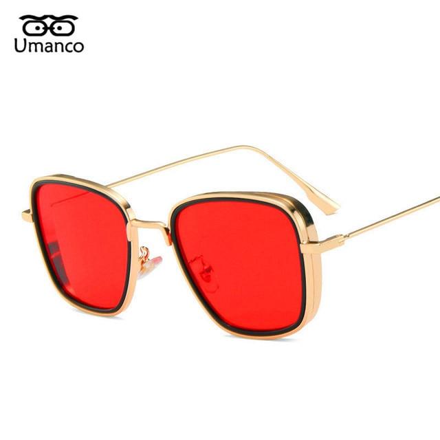 Umanco 2021 Steampunk Cool Kabir Square Sunglasses For Women Men Alloy Frame AC Lens Designer Brand Beach Travel Shade Gifts 8