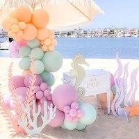 84pcs under the sea theme double layer macaron baby blue pink orange balloon decoration set birthday party baby shower decor