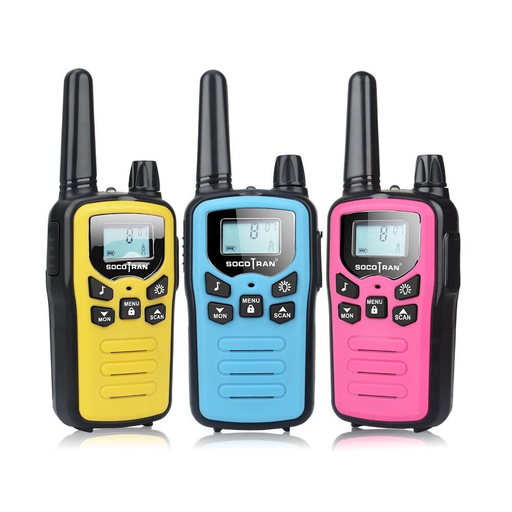 3 pacote mix cor pmr446 walkie talkies caçoa socotran SC-R60 3 milhas mini criança pmr rádio em dois sentidos com cabo recarregável
