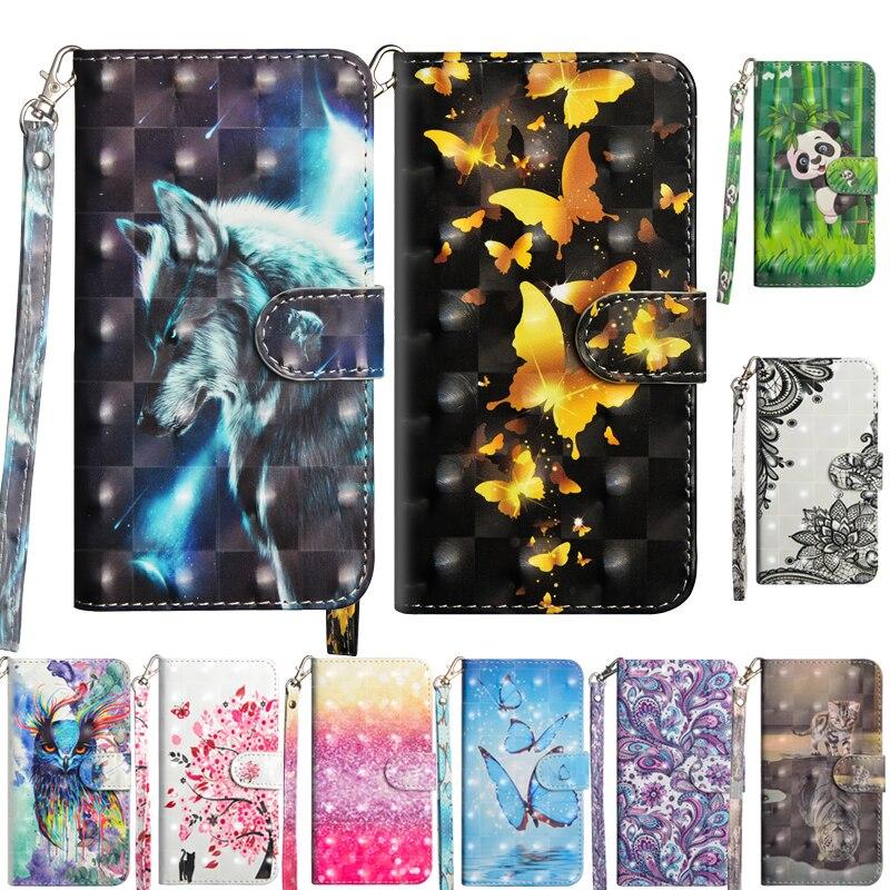 De Lujo 3D Vintage de cuero caja del teléfono para Nokia 2,3 TA-1211 TA-1214 TA-1206 TA-cartera de 1209 artística de dibujos animados Floral cubierta de Funda