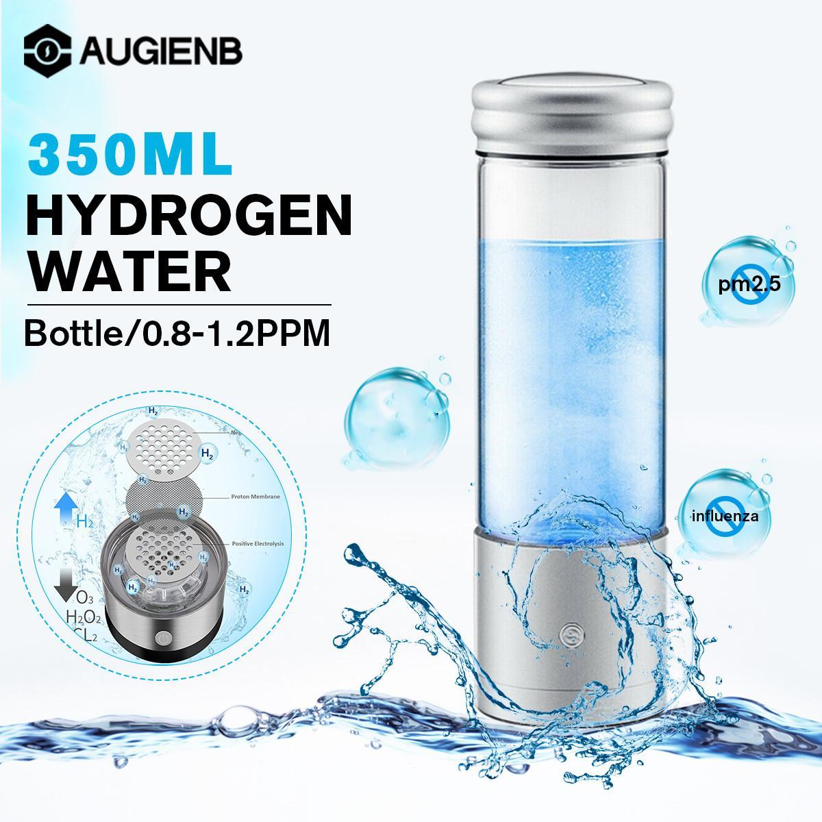 AUGIENB مولد الهيدروجين الغنية التحليل الكهربائي المؤين H2 زجاجة ماء نانو كوب اليابانية الحرفية صغيرة نقية H2 التهوية Rechargeabl