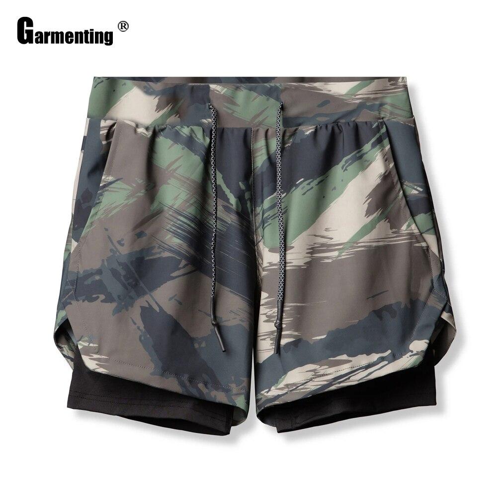 Garmenting Men Leisure Shorts New Summer 2021 Casual Drawstring Outdoor Fashion Patchwork Cargo Short Pants Man S-3XL