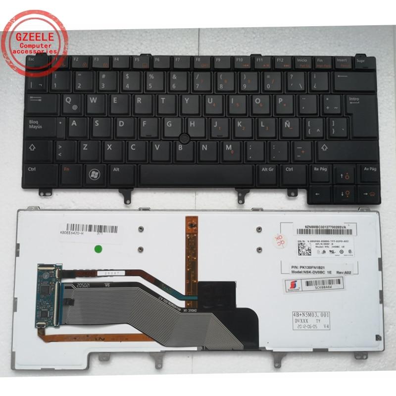 LA SP لوحة مفاتيح DELL E6420 E5420 E6320 E6330 e6230 لابتوب إضاءة خلفية الإسبانية