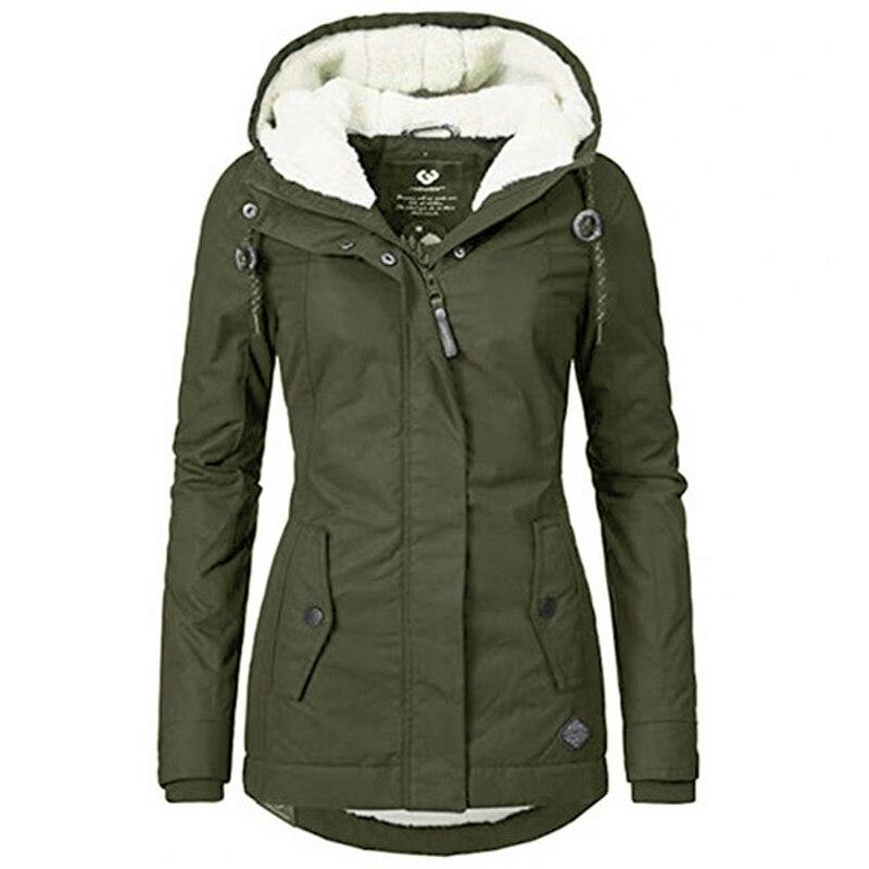 Женская зимняя парка, пуховик, женские куртки 2021, элегантные женские парки, пальто с капюшоном и длинным рукавом, женская зимняя куртка