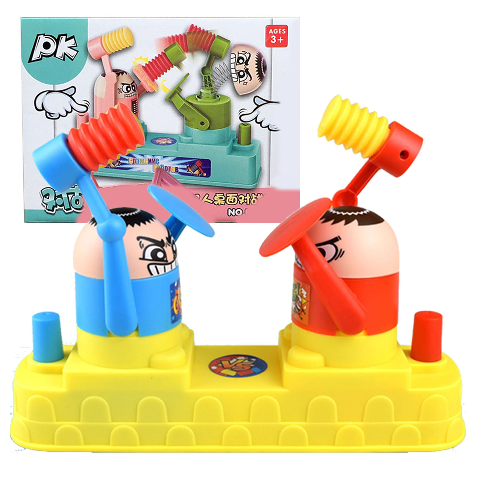 Two-person Battle Puzzle Reaction Game Interactive Pat And Offensive Board Boxing Toy