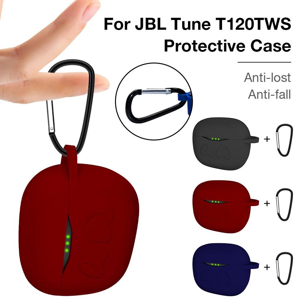 Portable Silicone Protection Case Sturdy Protective Cover For JBL Tune T120TWS Sponge Headphone