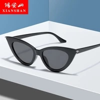sunglasses women luxury brand fashion vintage cat eye multicolor triangle frame sun glasses female lady uv400 trendy glasses