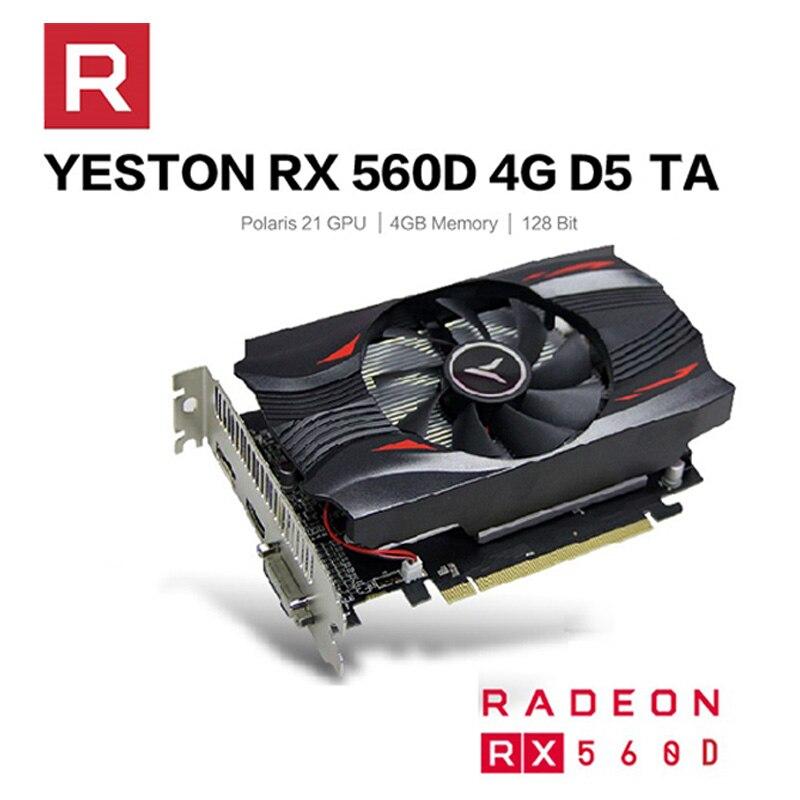 RX560D-4G D5 تا كارت العرض 1176-6000MHz 4G 128bit GDDR5 كارت العرض الألعاب مع DP + HDMI-متوافق + DVI-D