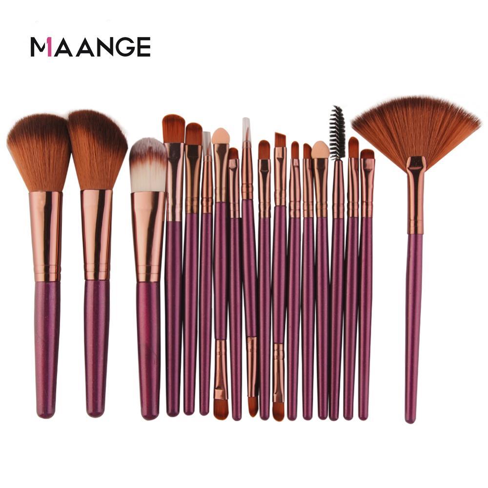 MAANGE-Conjunto de brochas de maquillaje, polvo cosmético, sombra de ojos, base, colorete, fusión para belleza, pincel para maquillaje, 6/15/18/20 piezas