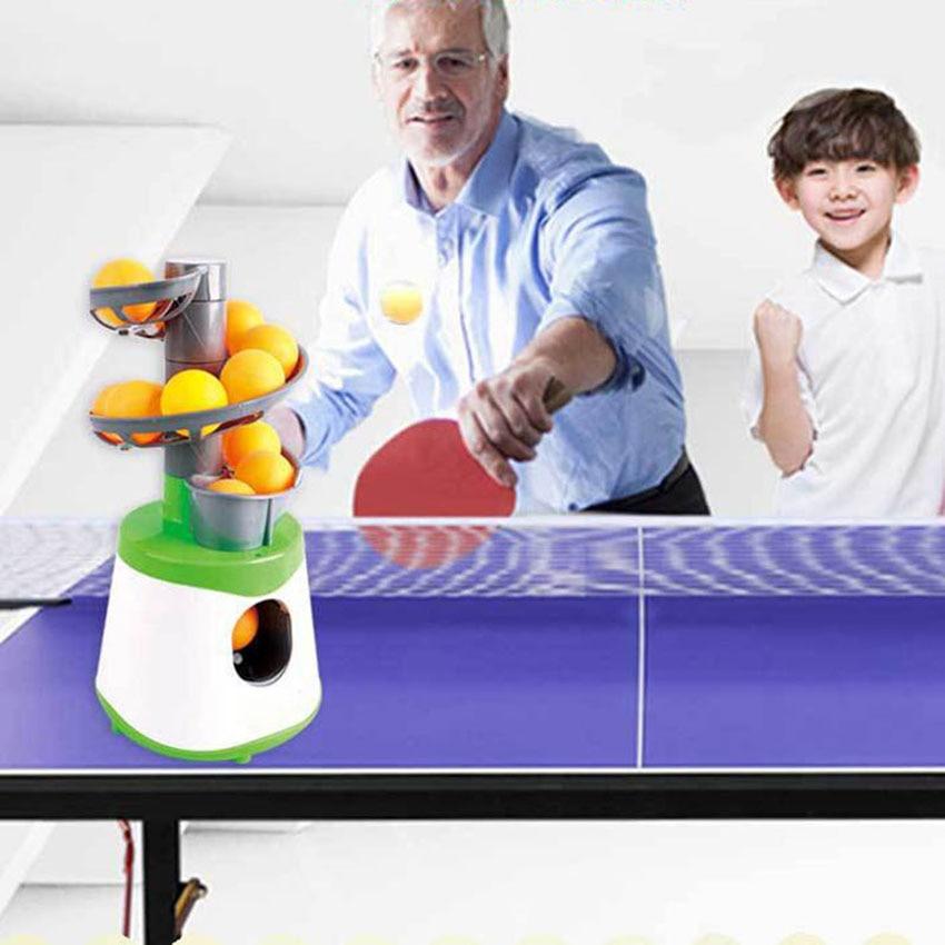 Mini Robot de tenis de mesa portátil, emisor de padres e hijos, pelota de tenis de mesa, lanzador de máquina de servicio con 10 bolas