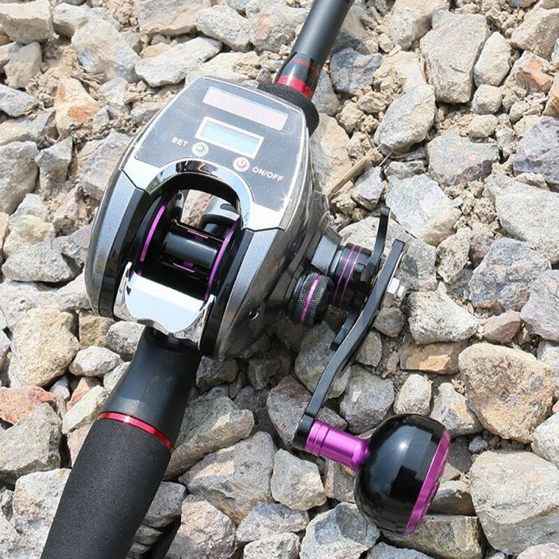 carretel de fundição isca pesca enfrentar com display digital