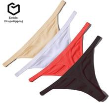 Ecmln livraison directe offre spéciale Sexy femmes coton G String tongs taille basse Sexy culottes dames sous-vêtements sans couture Lingerie 1/2 pièces