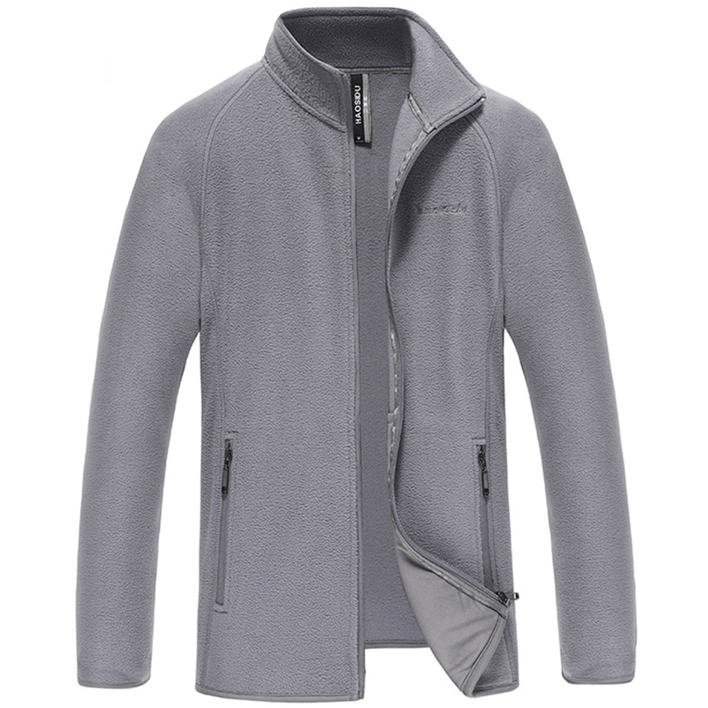 Nova moda roupas masculinas simples cor pura cardigan pessoal jacketsautumn inverno menino trabalho na moda estilo