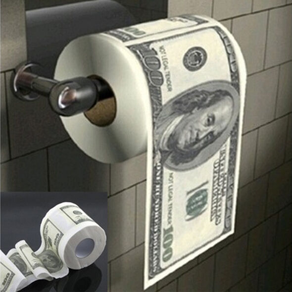 Donald $100 Dollar Humour Toilet Paper Bill Toilet Paper Roll Novelty Gag Gift Dump Funny Gag Gift hot Sale