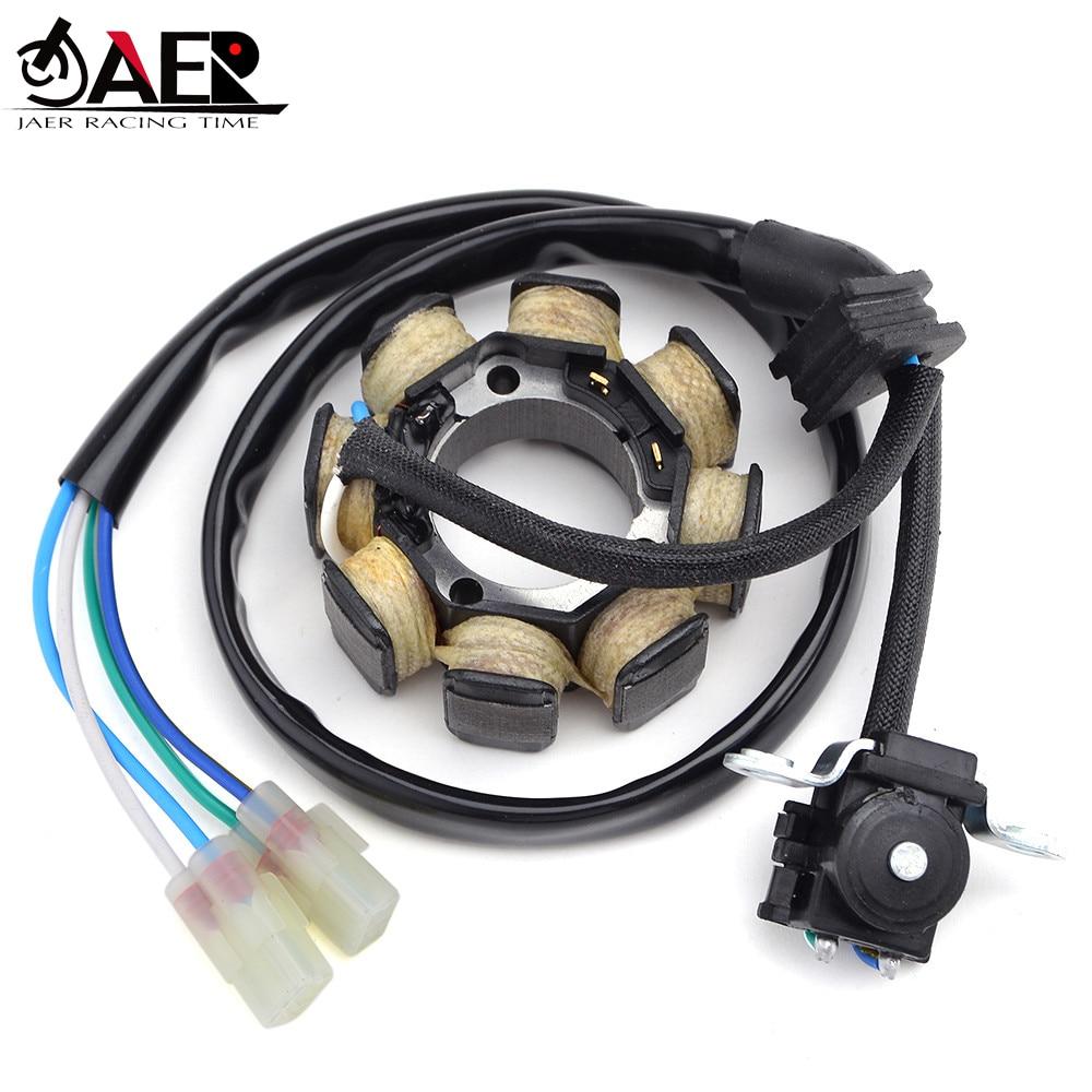 JAER de bobina de estator generador Comp para Honda CRF250 CRF250R 2004-2009 CRF450R 2005-2007 CRF450R 2008 31120-KRN-670