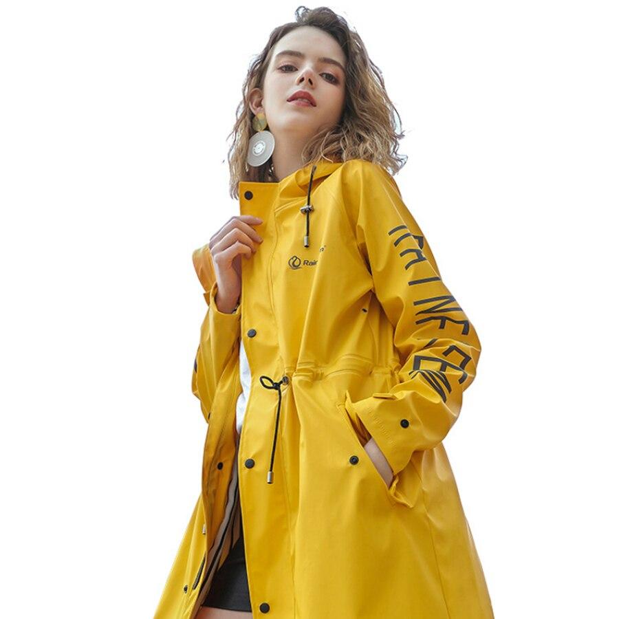 Long Travel Raincoat Jacket Ladies Outdoor Camping Waterproof Raincoat Motorcycle Veste De Pluie Femme Raining Coat EA60YY enlarge