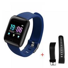 Bracelet intelligent hommes et femmes sport horloge podomètre ID116 PLUS Fitness Tracker pour les heures montre podomètre Bracelet intelligent montre-Bracelet