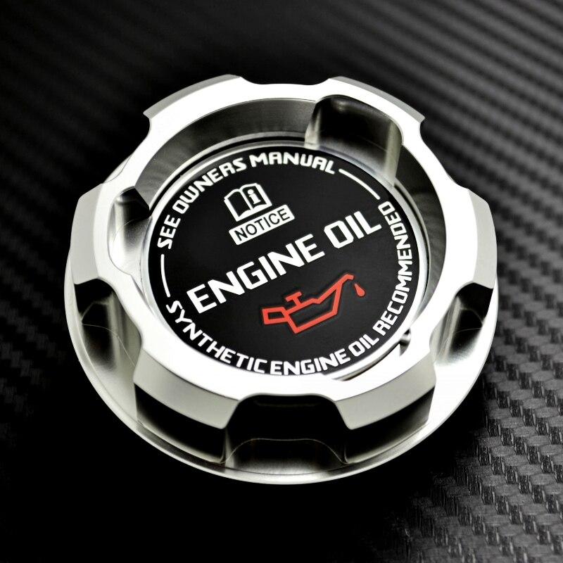 De aluminio de plata Tapa de aceite de motor para Mitsubishi LANCER EVO 8 9 3000GT 3000GT doble TURBO 6G72 GALANT VR4 OUTLANDER MIRAGE