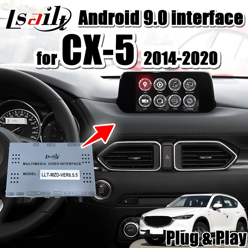 Caja de navegación GPS con integración de interfaz de Audio y vídeo para coche Android 7,1 para Mazda CX-5 2013-19 compatible con dongle carplay de Lsailt