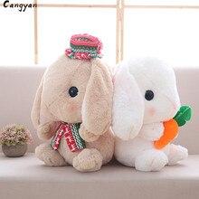 Poupée de lapin mignon mignon lapin blanc en peluche jouet poupée de lapin cadeau poupée de lapin