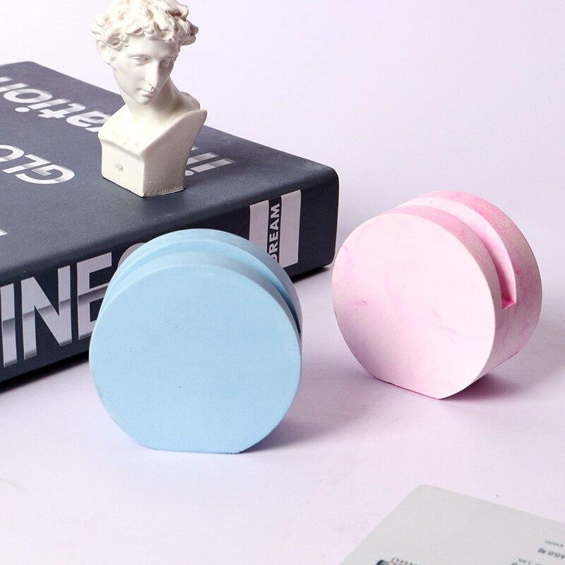 Molde redondo creativo de silicona para tarjetas de visita, molde simple hecho a mano de yeso de aromaterapia, molde de silicona para tarjetas de mesa