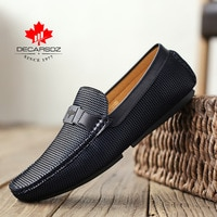 DECARSDZ 2021 Boat Shoes Men Fashion Spring Men Casual Shoes Design Classic Leather Moccasins Male Flats Footwear Loafer Shoes