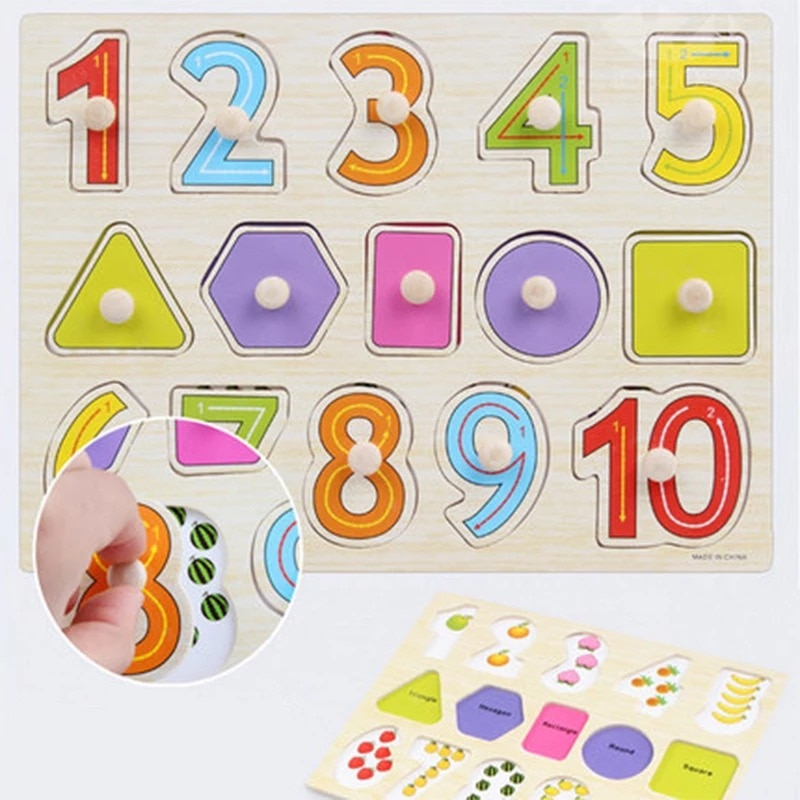 Детские развивающие игрушки, деревянные 3D головоломки, игрушки Монтессори для раннего обучения, детские подарки на день рождения, Рождеств...
