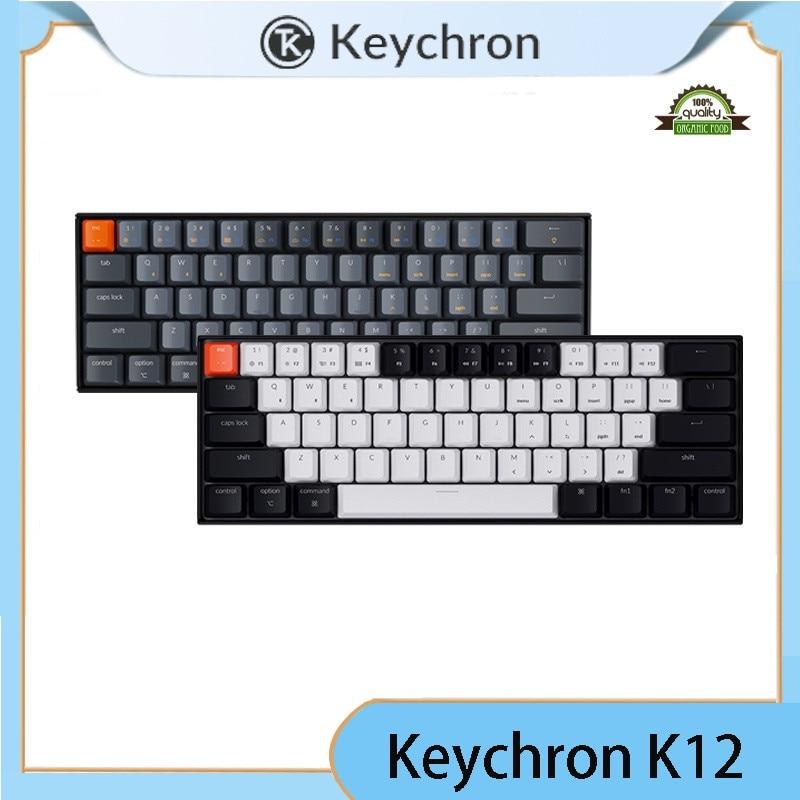 جديد Keychron K12 C بلوتوث اللاسلكية الميكانيكية لوحة المفاتيح RGB الخلفية Gateron الميكانيكية التبديل الألومنيوم الإطار ل ماك ويندوز
