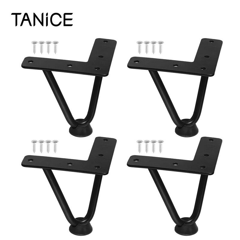 TANiCE 4 قطعة قسط مشبك شعر الجدول الساق أقدام أثاث مكتب مقاعد البدلاء الحرة مسامير & حماة Steel-100mm / 4